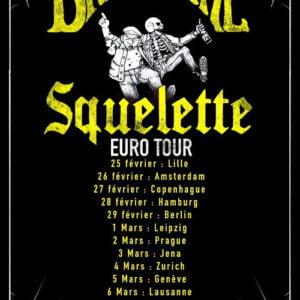 Flyer de la tournée Bromure et Squelette