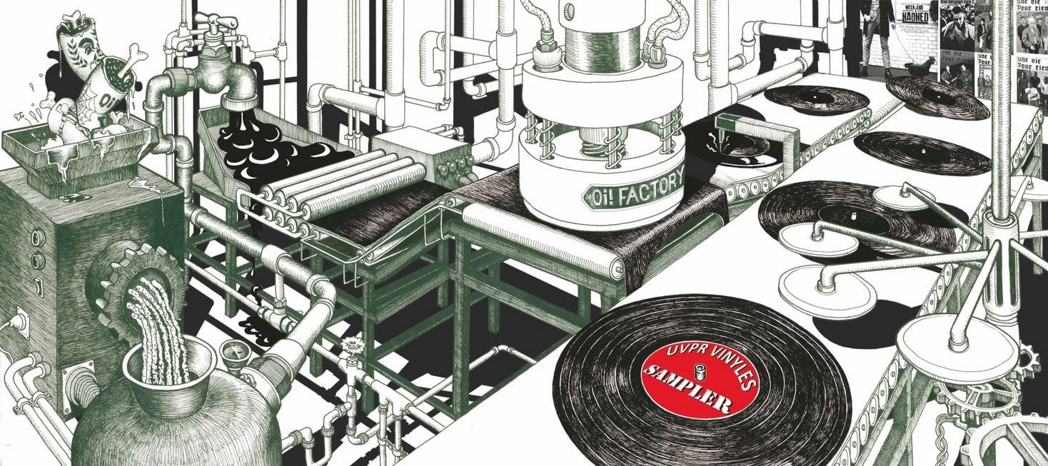 Illustration usine vinyles Une Vie Pour Rien