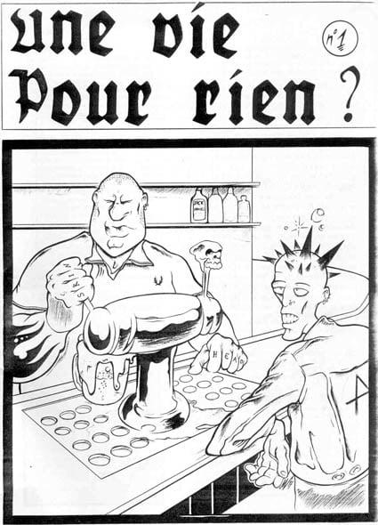 Illustration punx & skins Une Vie Pour Rien records